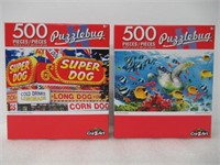 (2) 500 Piece Puzzle by Cra-Z-Art