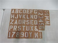 Pro Art 4-Inch Painting Stencil Set, Letters and