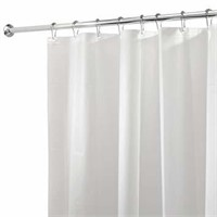 iDesign PEVA Plastic Shower Bath Liner, Mold and