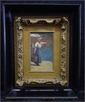 Margaret Maynard Woman Carrying a Bucket O/B