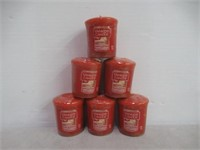 (6) Yankee Candle Votives, Sugared Cinnamon Apple