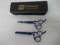 Macs Blue Titanium Ergonomic Professional Barber