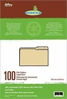 Hilroy Enviro-Plus Recycled File Folders, Legal