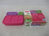"""""""As Is"""" Rubbermaid LunchBlox Kids Flat Lunch Kit,"""