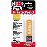 (2) J-B Weld Kwik Plastik Repair Epoxy 2oz.