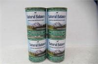 (4) Cans Natural Balance Lamb & Rice Formula Dog