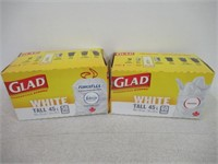(2) Glad White Garbage Bags - Tall 45 Litres -