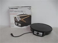 """As Is"" Chefman 12"" Electric Crepe Maker &"