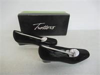 Trotters Women's 6 Lauren Dress Wedge - Black