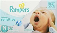 Pampers Diapers Newborn Size N 4.5 kg, Swaddlers