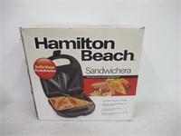 "Hamilton Beach 25430 Sandwich Maker, 4"", BLACK"