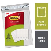 Command 12 lb Picture Hanging Strips, 16 pairs (36
