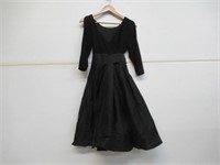 Womens 6 Fit And Flare 1/4 Sleeve Dress - Black