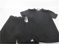 Adidas Mens XL Climatech Shorts & Shirt - Black