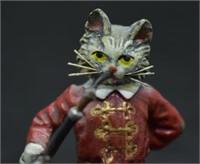 Franz Bermann Austrian Cold Painted Bronze Cat