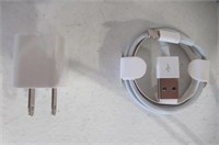 (2) Lightning to USB Cable 5W USB Power Adapter