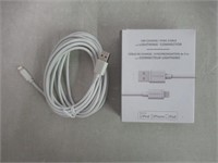 NS LTNG CHARGE/SYNC CABLE 10FT WHITE
