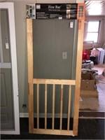 """32"""" 5 Bar Wood Screen Door"""