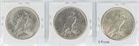 Coin 3 United States Peace Silver Dollars