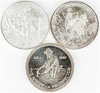 Coin 3 Silver .999 Fine 1 Oz Rounds