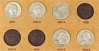 Coin Washington Quarter Partial Set 28 pcs 90%