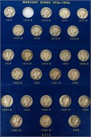 Coin Mercury Dime Partial Set in Binder