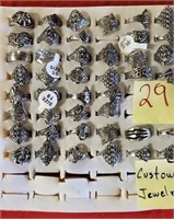 29 -  LOT OF COSTUME JEWELRY RINGS