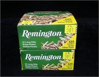 2- Boxes Remington value packs 525 rds. of .22LR