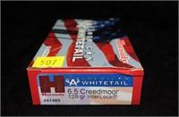 Box Hornady 6.5 Creedmoor 129-grain Interlock