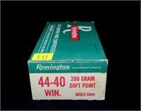 Box Remington .44-40 200-grain SP cartridges