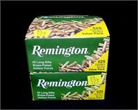 2-Boxes Remington value pack 525 Rds. .22LR