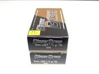 2- Boxes Blazer brass 9mm Luger 115-grain FMJ