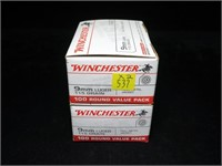 2- Boxes Winchester 100 Rd. value packs 9mm