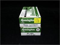 2- Boxes Remington 9mm Luger 115-grain MC