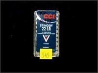 Box CCI .22 LR hollow points, stinger cartridges