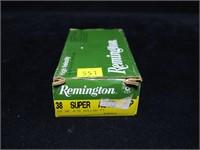 Box Remington .38 Super Auto +P 115-grain hollow