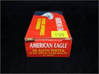 Box American Eagle .25 auto 50-grain MC