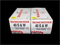 2- 100 round value packs of Winchester .40 S & W