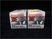 2- Boxes Winchester .22 WIN. Mag hollow point