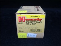 Lot, 15 Rds. Hornady 460 S & W Mag 200-grain