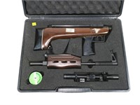 Air rifle in case, takedown with broken pistol