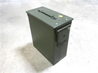 "Large ammo can, 12"" L x 12"" H"