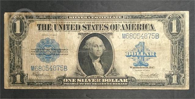 Us Treasury 1923 1 Silver Certificate