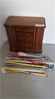 Jewelry Case And Knitting Needles