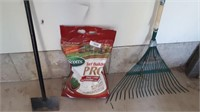Partial Bag Of Scotts Turf Builder Pro, Rake, Etc