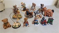 Lot Of Collector Bear Figurines And Etc