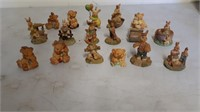 Collector Bear And Bunny Figurines
