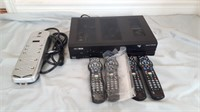 High Definition Cable Box With Four Remotes And