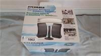 Sylvania Wireless Speakers With 900 Mhz
