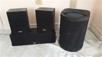 3 Yamaha Speakers And 1 Jensen Speaker